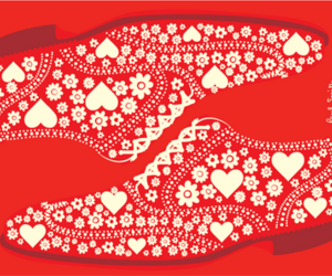 hearts, pattern, and shoes image