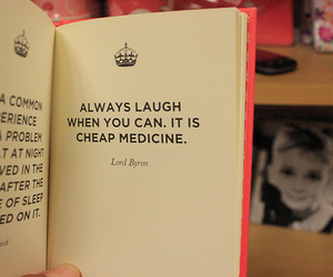 book, laugh, and quote image