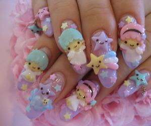 nails, kawaii, and nail art image