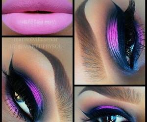 eyes, makeup, and mouth image