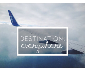 airplane, let's travel, and destination image