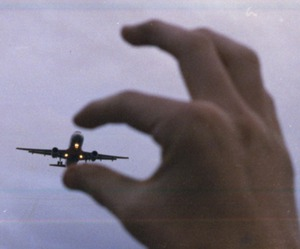 airplane, creative, and fingers image