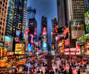city, new york, and times square image
