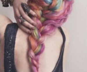 fashion, color, and hair image