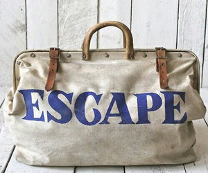 bag, escape, and travel image