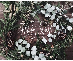 christmas, handlettering, and holiday image