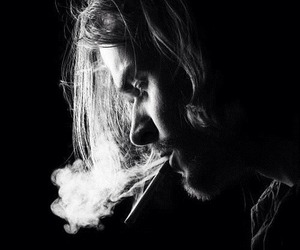 nirvana, kurt cobain, and smoke image