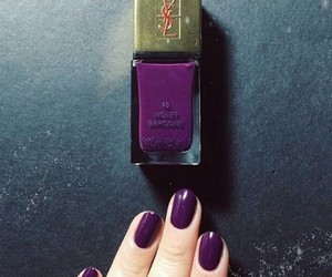nails, YSL, and beautiful image