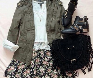 outfit, shoes, and bag image