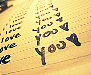 you, cute, and love image
