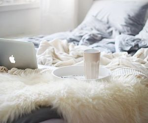 bed, apple, and bedroom image