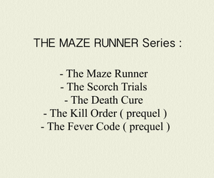 book, the death cure, and list image