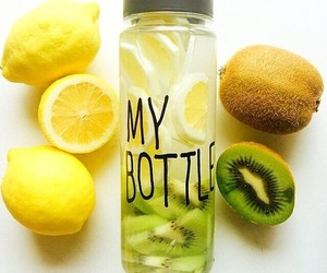 lemon, kiwi, and water image