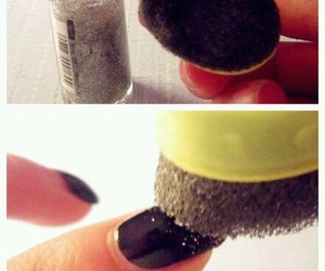 dark, glitter, and nails image
