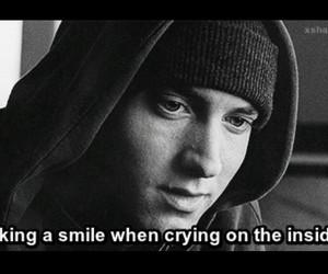 eminem, smile, and crying image