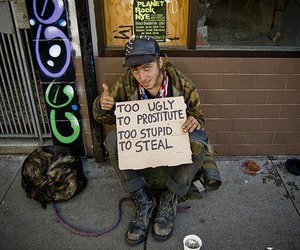 prostitute, ugly, and homeless image