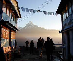 travel, mountains, and people image