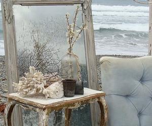 mirror, ocean, and vintage image