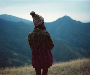 girl, beanie, and nature image