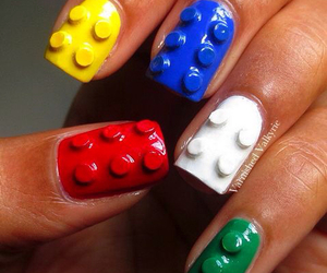 nails, lego, and green image
