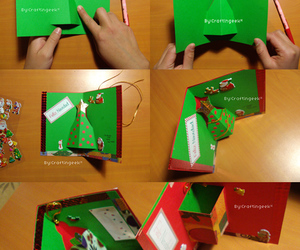 christmas card, tutorial, and craftingeek image