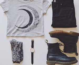 outfit, black, and style image