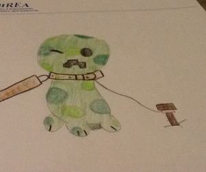 creeper, creepy, and draw image