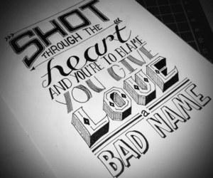 bon jovi, heart, and bad name image