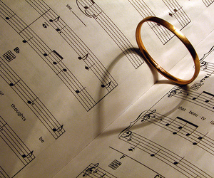 music, love, and ring image