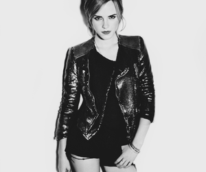 b&w, beautiful, and emma watson image