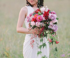 beautiful, flowers, and outdoor wedding image