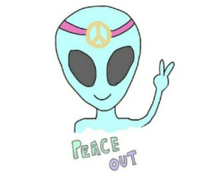 alien, peace, and background image