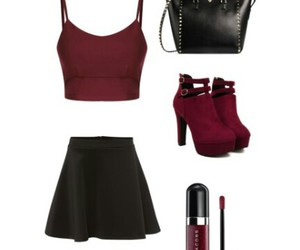 fashion, bordeaux, and Polyvore image