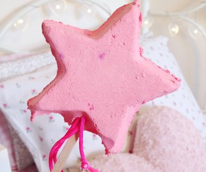 pink, lush, and star image