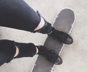 black, clothes, and skate image