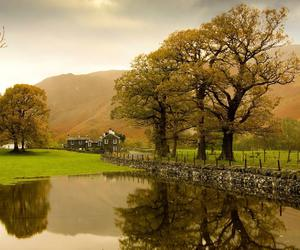 lake, autumn, and country image