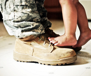 baby, soldier, and army image