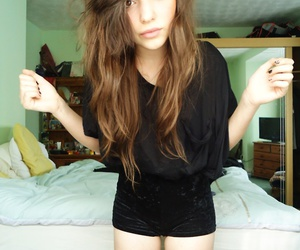 skinny, pretty, and hair image