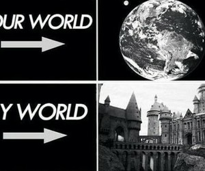 harry potter, hogwarts, and My World image