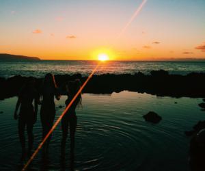 girl, life, and sunset image