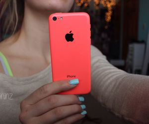 iphone 5c, hot pink, and iphone image