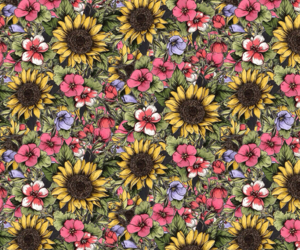 flowers, iphone wallpaper, and pattern image