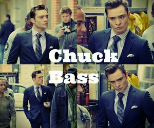 chuck bass, love, and gossip girl image