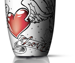 art, wings, and cup image