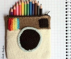 instagram and pencil image