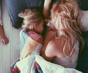 daughter, cute, and mother image