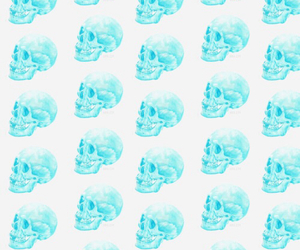 skull, background, and pink image