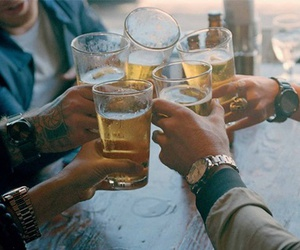 friends, beer, and party image