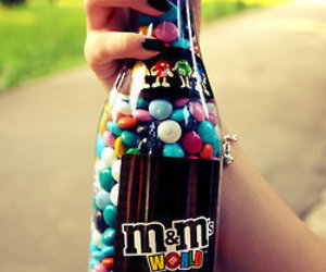 m&m and food image