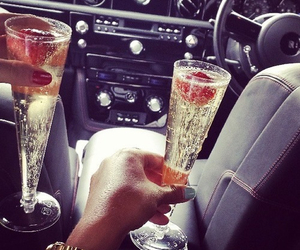 car, champagne, and luxury image